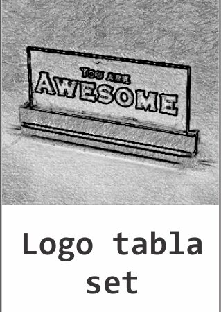 Logo tabla set